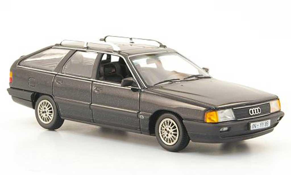 Audi 100 avant 1/43 Minichamps (C3) grise 1990 miniature