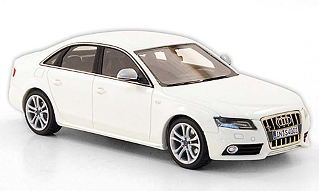 audi s4 miniature blanche look smart 1 43 voiture. Black Bedroom Furniture Sets. Home Design Ideas