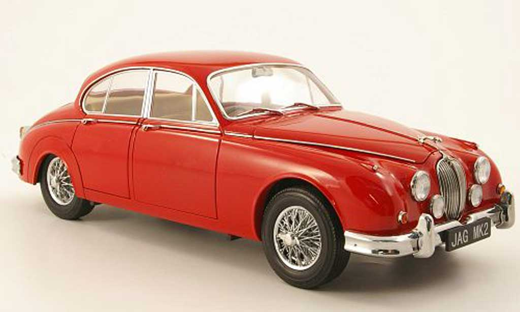 Jaguar MK 2 1/18 Model Icons 3.8 rouge rhd 196 miniature