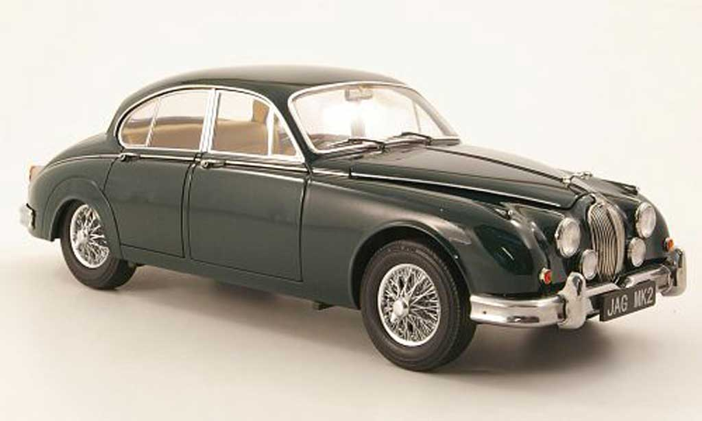Jaguar MK 2 1/18 Model Icons 3.8 grun rhd 196 miniature