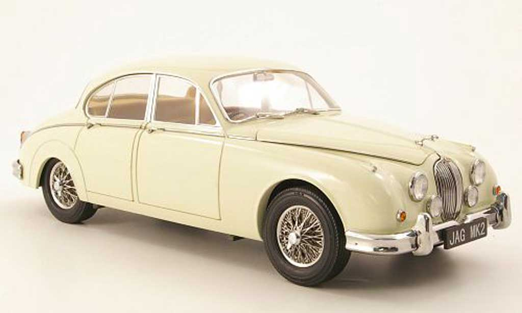 Jaguar MK 2 1/18 Model Icons 3.8 blanche rhd 196 miniature