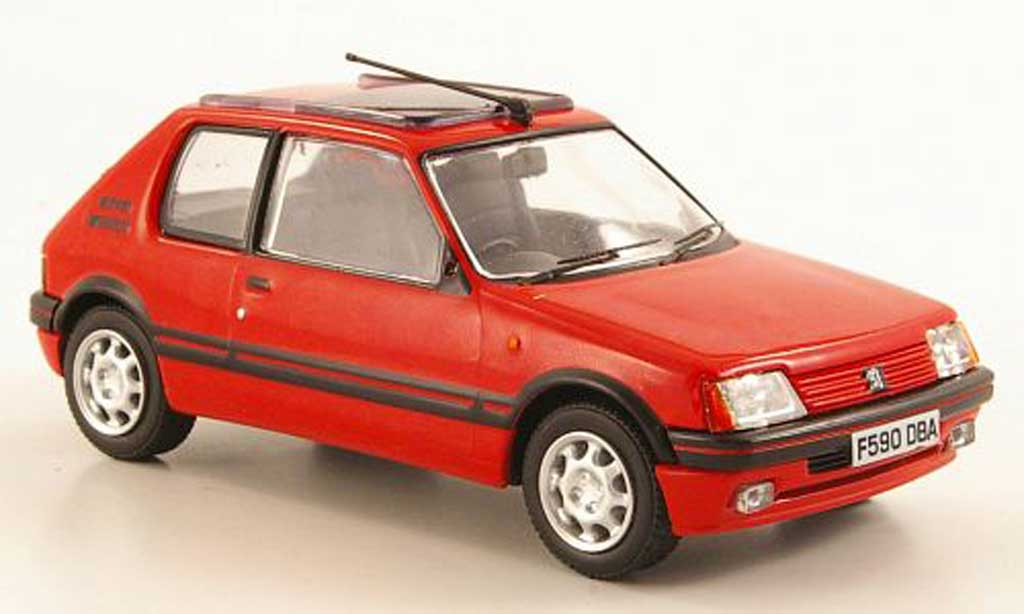 peugeot 205 gti miniature 1 9 gti rouge vanguards 1 43 voiture. Black Bedroom Furniture Sets. Home Design Ideas