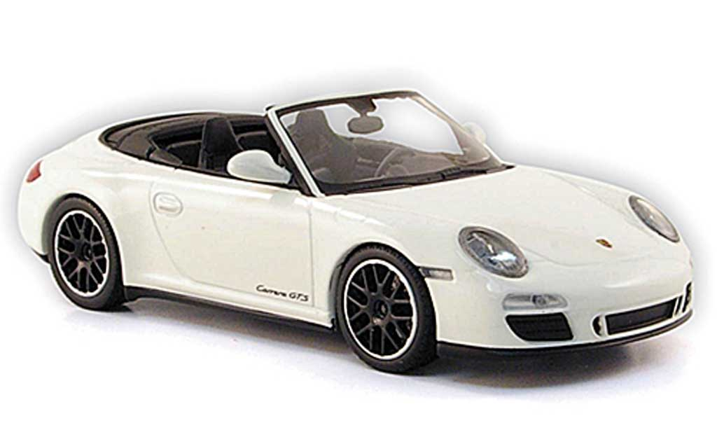 Porsche 997 GTS 1/43 Minichamps Carrera Cabriolet white 2011 diecast model cars