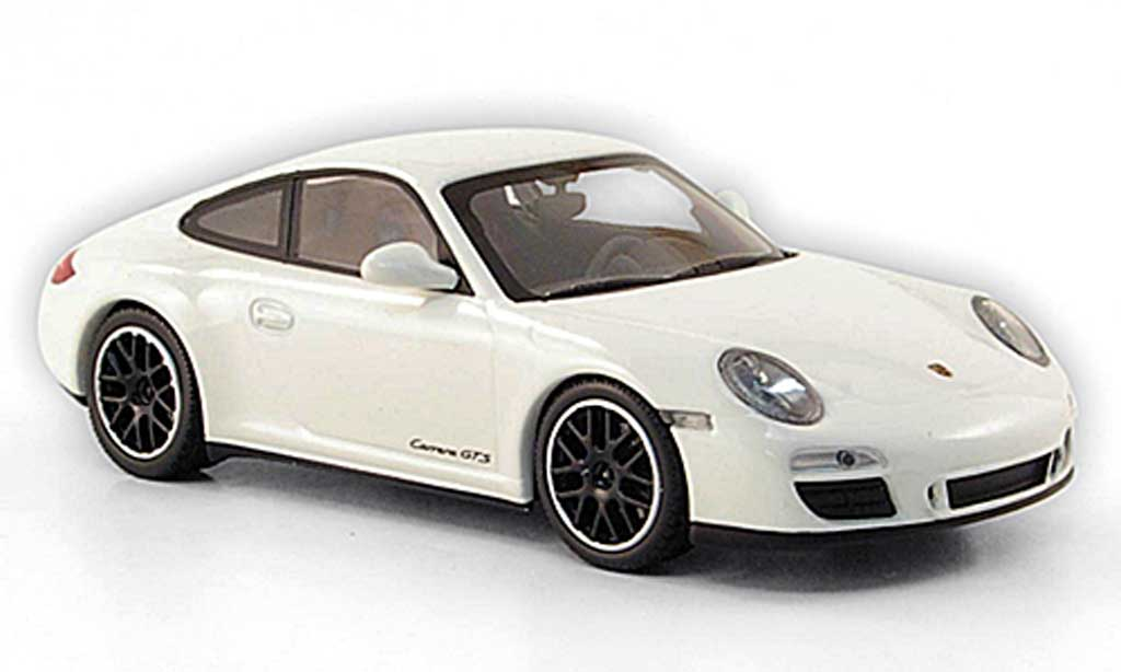 Porsche 997 GTS 1/43 Minichamps Carrera Coupe white 2011 diecast model cars