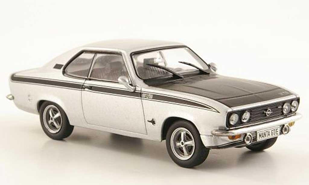 Opel Manta A 1/43 Hachette GT/E grise /noire (ohne Magazin) 1974 miniature