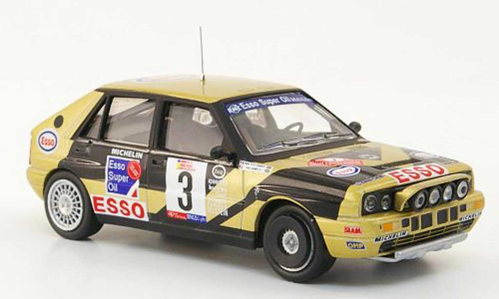 Lancia Delta HF Integrale 1/43 Hachette HF Integrale No.3 Esso Rally Vinho de Madeira 1989 modellino in miniatura