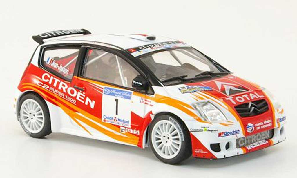 Citroen C2 S1600 1/43 Hachette No.1 Total Rally d'Antibes 2007 miniature