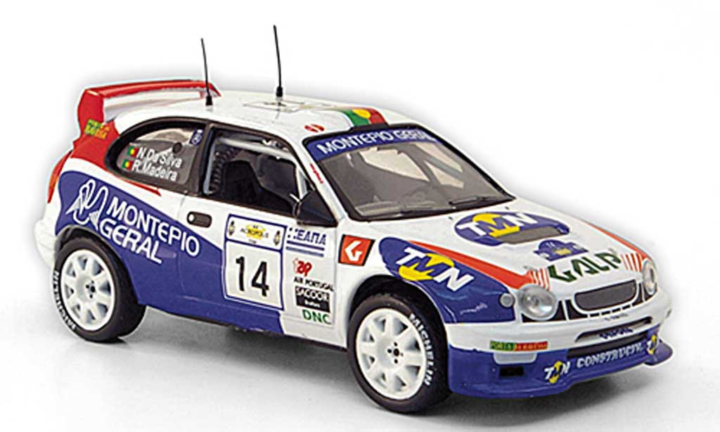 Toyota Corolla WRC 1/43 Hachette No.14 Galp Rally Griechenland 1998 modellino in miniatura