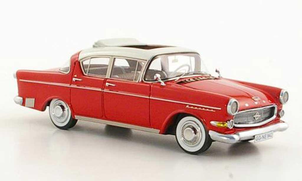 Opel Kapitan 1/43 Neo P2.5 L blanche/rouge 1958 miniature