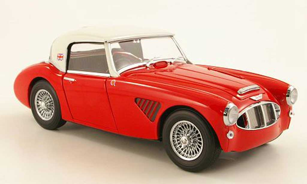 Austin Healey 3000 1/18 Kyosho MK1 rouge/elfenbein Prougeoype RHD miniature