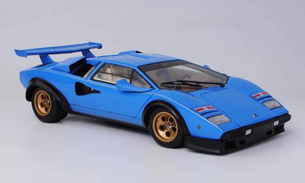 Lamborghini Countach 5000 S 1/18 Kyosho Walter Wolf bleu diecast model cars