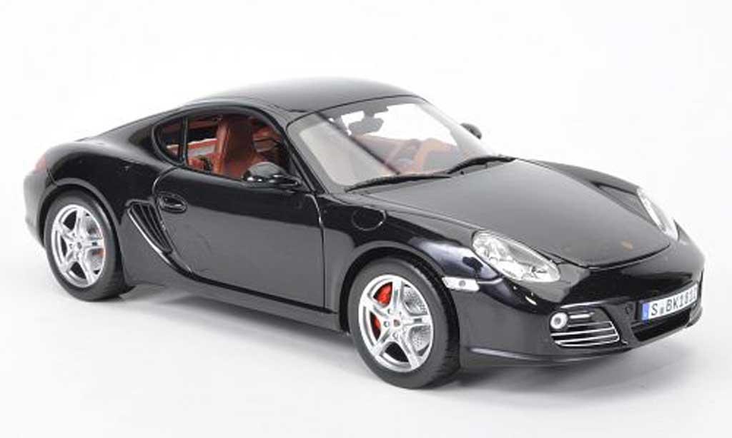 Porsche Cayman 1/18 Norev S noire 2009 miniature