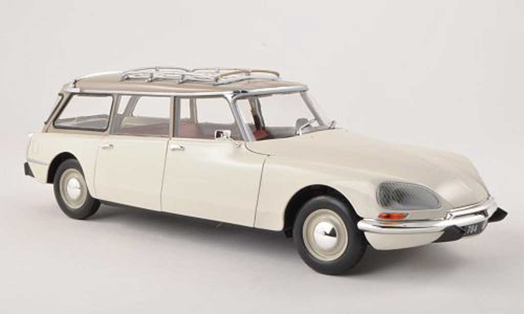 Citroen DS 21 1/18 Norev Break blanche/gris 1970 miniature
