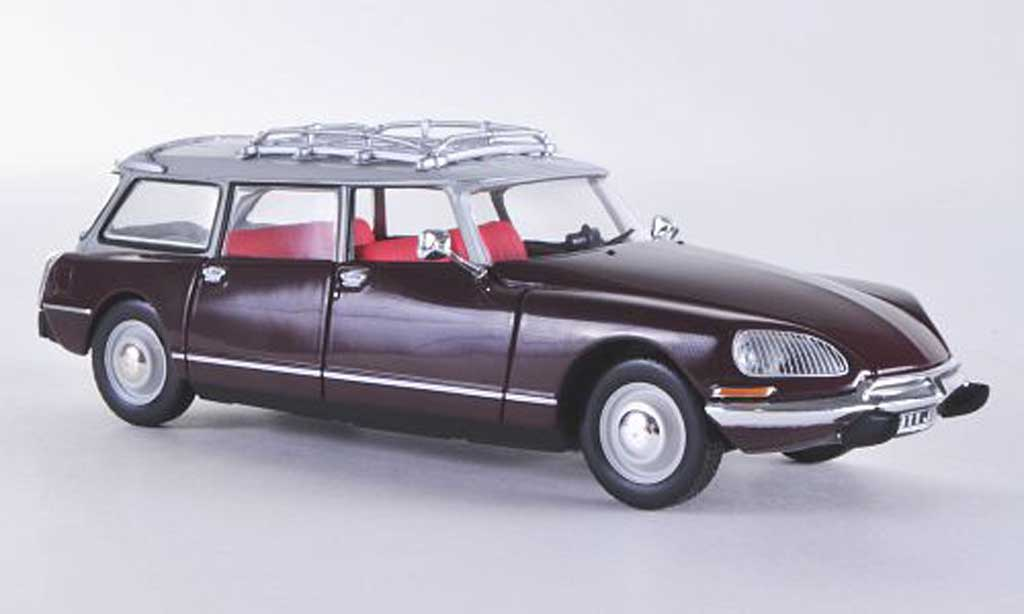 Citroen ID 19 1/43 Norev Break red/grey 1968 diecast model cars