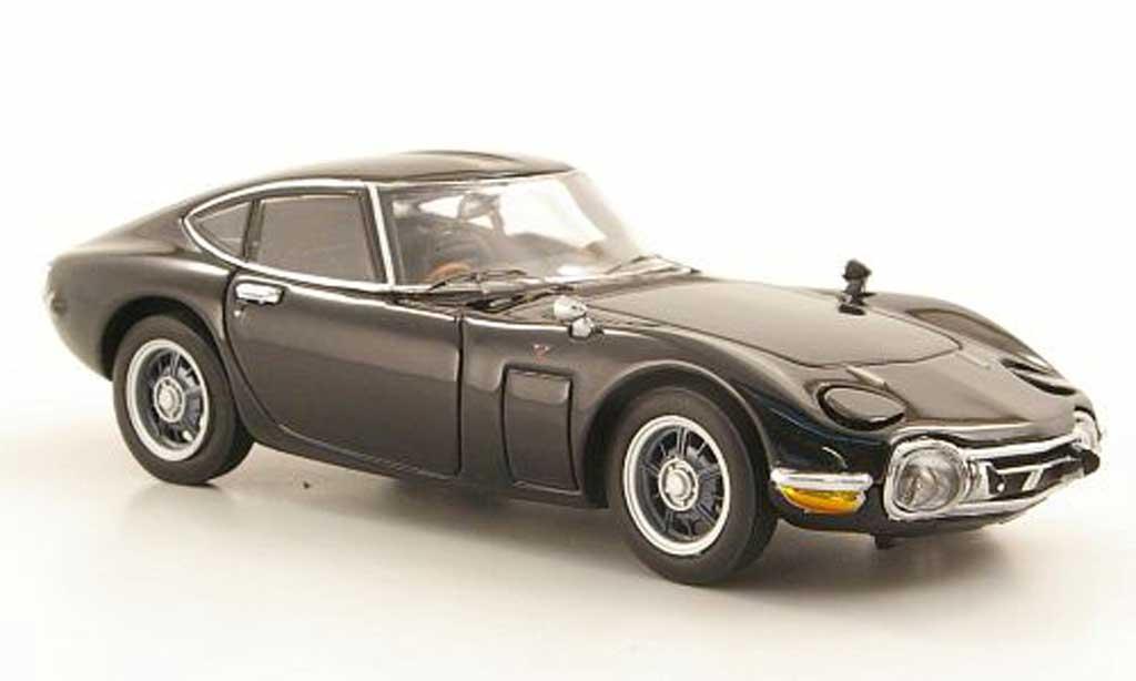 Toyota 2000 GT 1967 1/43 Ebbro noire miniature