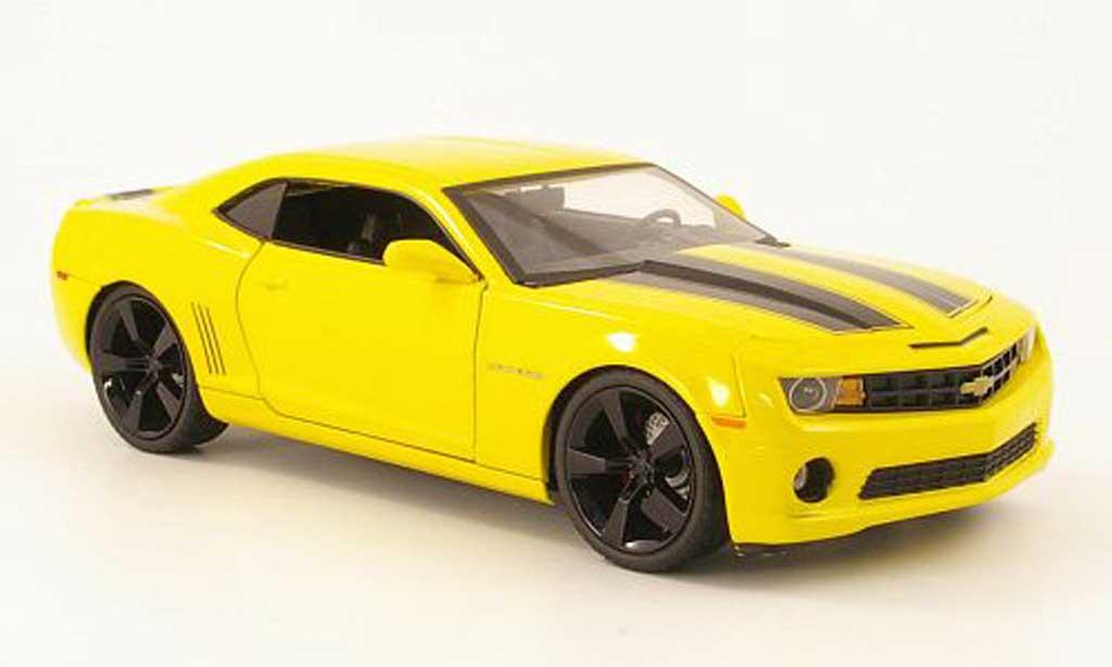 chevrolet camaro ss rs miniature jaune noire 2010 jada toys 1 18 voiture. Black Bedroom Furniture Sets. Home Design Ideas