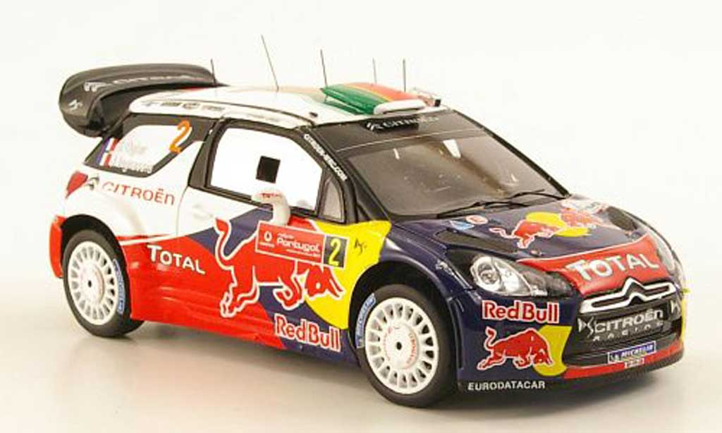 DS Automobiles DS3 WRC 2011 1/43 Spark WRC 2011 No.2 Red Bull Rally Portugal miniature