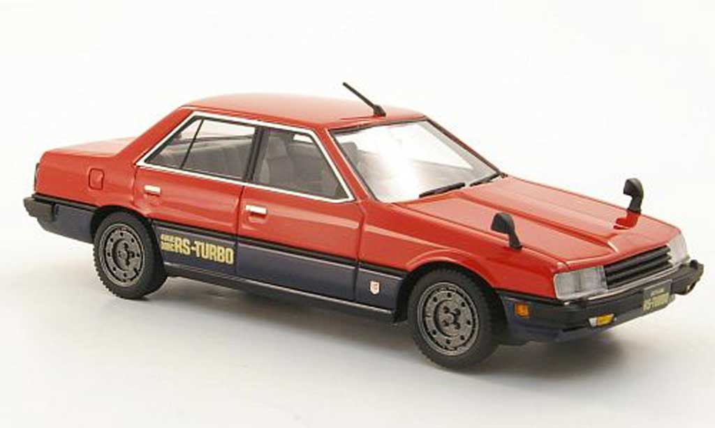 Nissan Skyline 2000 1/43 Hi Story Sedan Turbo rouge/bleu RHD 1983 miniature