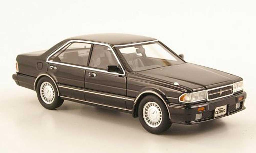 Nissan Cedric 1/43 Hi Story Gran Turismo SV (Y31) black RHD 1989 diecast model cars