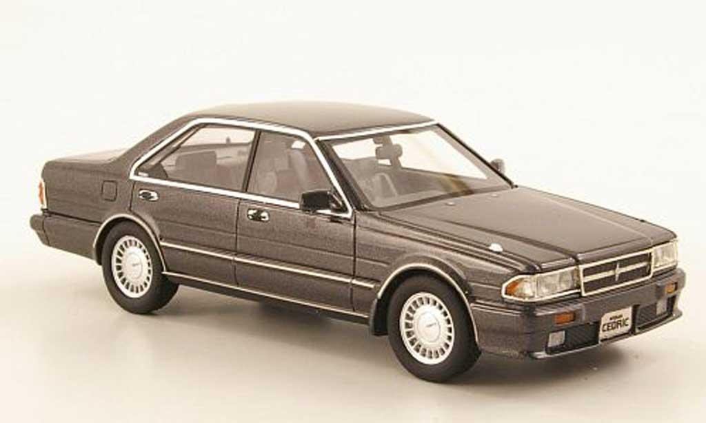 Nissan Cedric 1/43 Hi Story Gran Turismo SV (Y31) grise RHD 1989 miniature