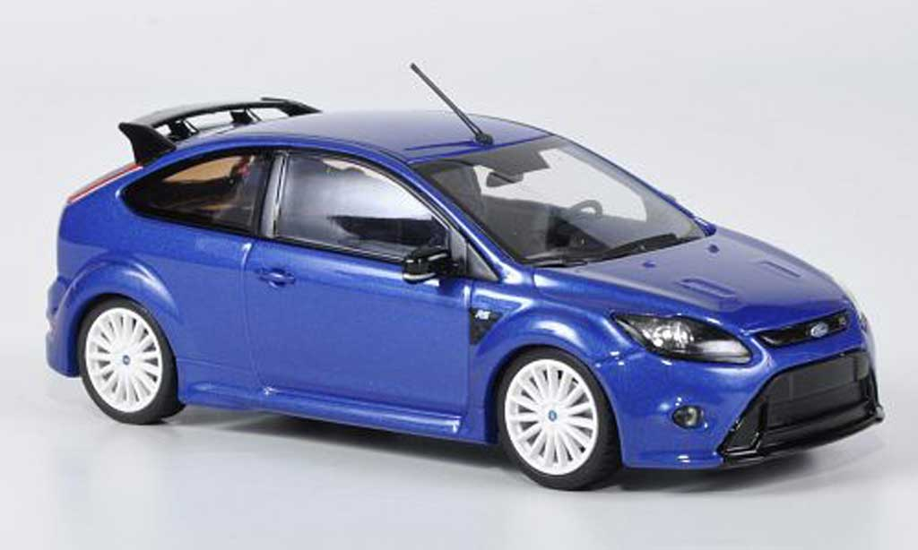 ford focus rs blau mit weissen radern 2009 minichamps modellauto 1 43 kaufen verkauf. Black Bedroom Furniture Sets. Home Design Ideas