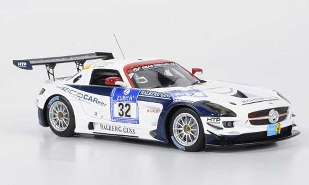 Mercedes SLS 1/43 Minichamps AMG GT3 No.32 Heico Motorsport 24h ADAC Nurburgring 2011 miniature