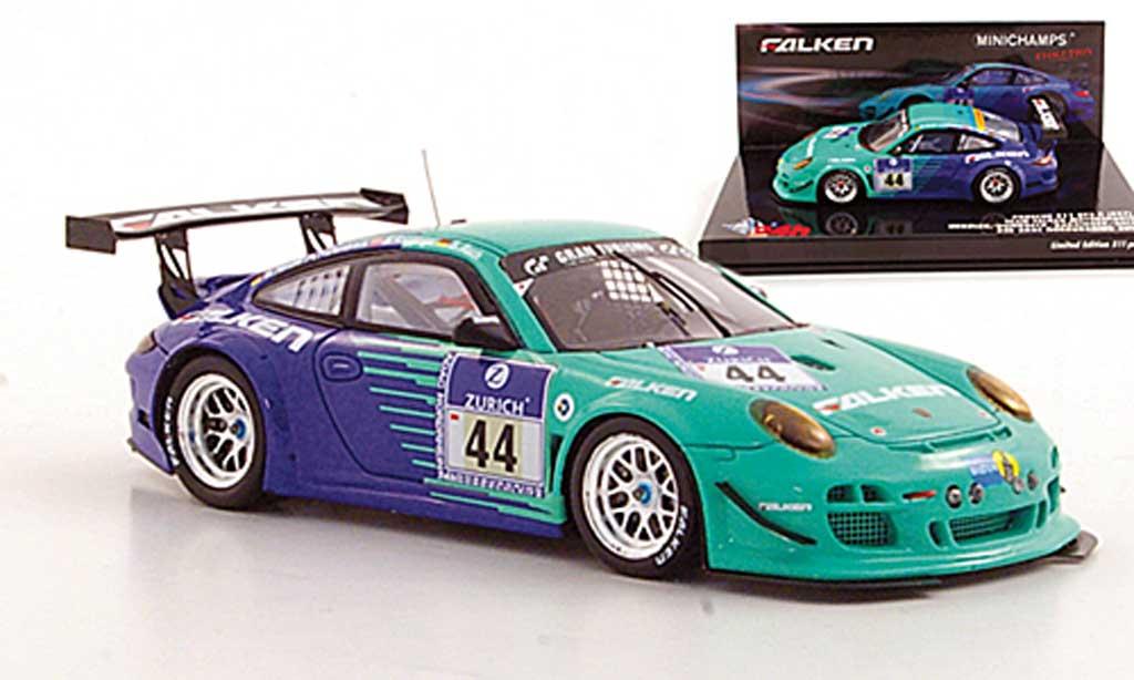 Porsche 997 GT3 1/43 Minichamps R 2011 No.44 Team Falken Motorsports ADAC 24h Nurburgring miniature