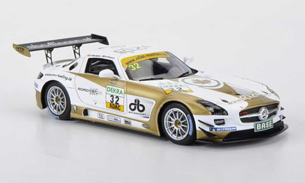 Mercedes SLS 1/43 Minichamps AMG GT3 No.32 Heico Motorsport D.Baumann / H.Proczyk ADAC GT Masters 2011 miniature