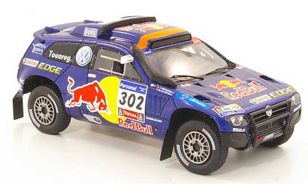 Volkswagen Touareg Dakar 1/43 Spark Race 3 No.302 Red Bull Rally 2011 miniature