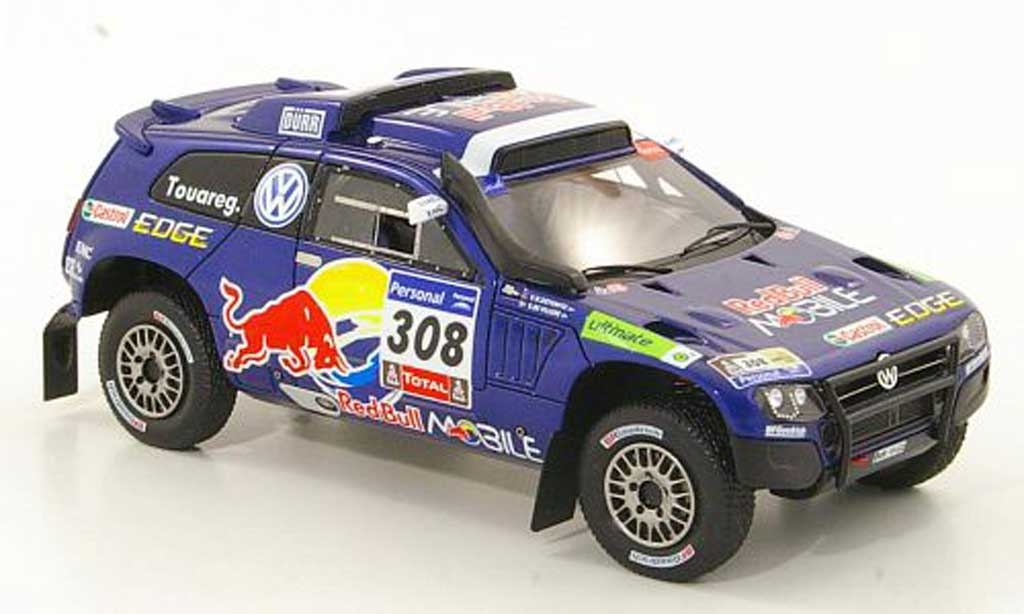 Volkswagen Touareg Dakar 1/43 Spark Race 3 No.308 Red Bull Mobile Rally 2011 miniature
