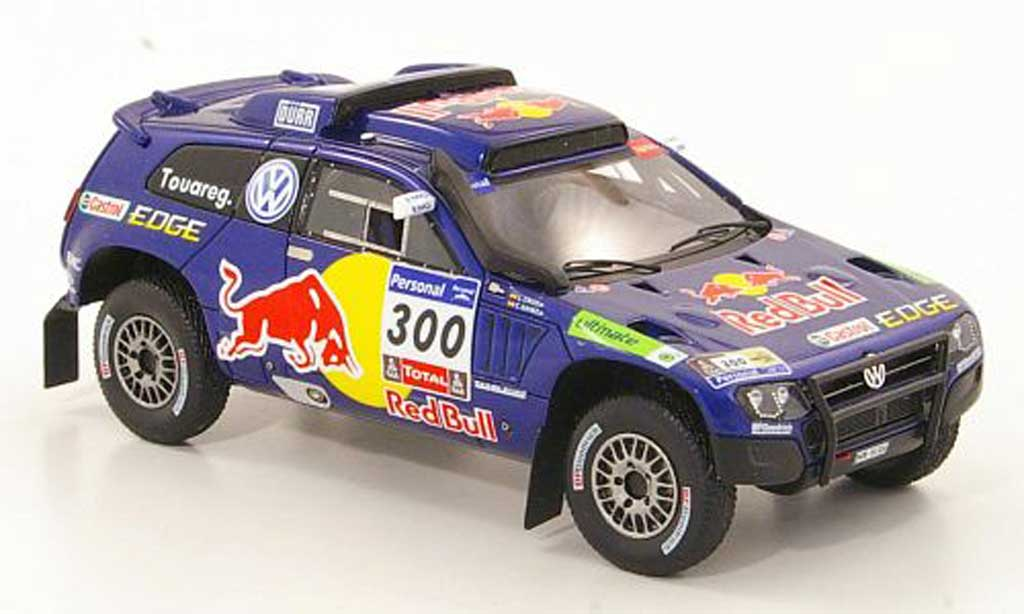 Volkswagen Touareg Dakar 1/43 Spark Race 3 No.300 Red Bull Rally 2011 miniature