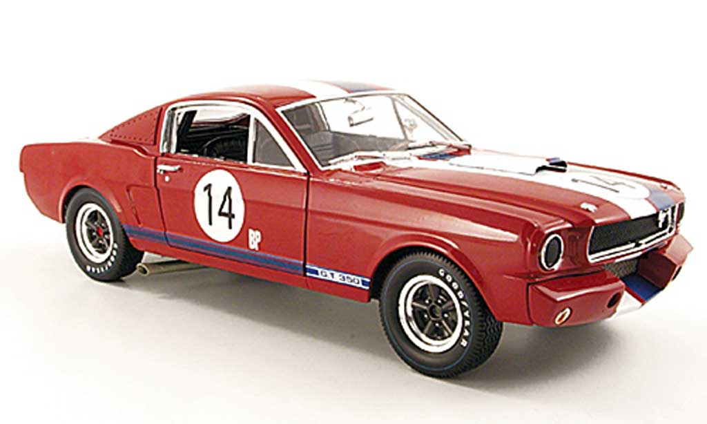 Shelby GT 350 1965 1/18 Shelby Collectibles r no.14 bp rouge/blanche/bleu miniature
