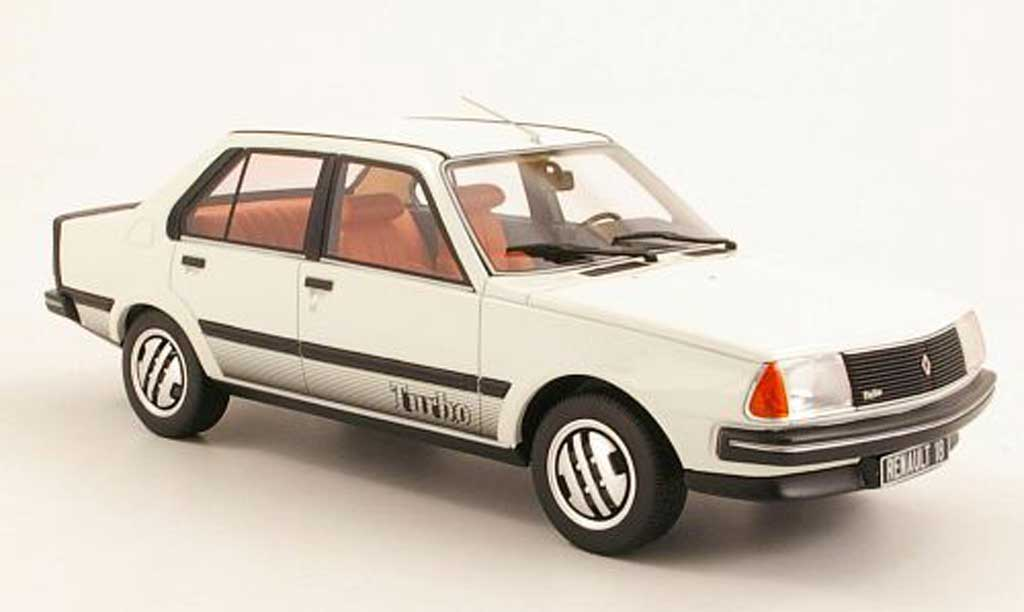 Renault 18 1/18 Ottomobile Turbo blanche miniature