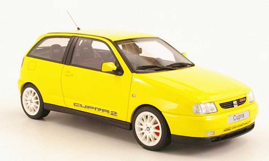 seat ibiza miniature cupra 2 jaune ottomobile 1 18 voiture. Black Bedroom Furniture Sets. Home Design Ideas