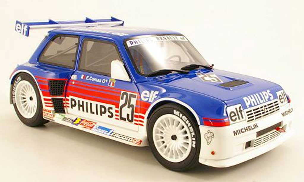 Renault 5 1/18 Ottomobile GT Turbo Super Production No.2 Eric Comas miniature
