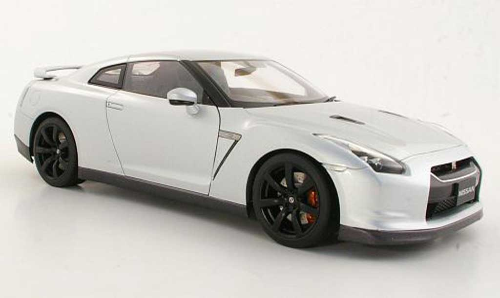 nissan skyline r35 miniature gt r grise metallisee autoart. Black Bedroom Furniture Sets. Home Design Ideas