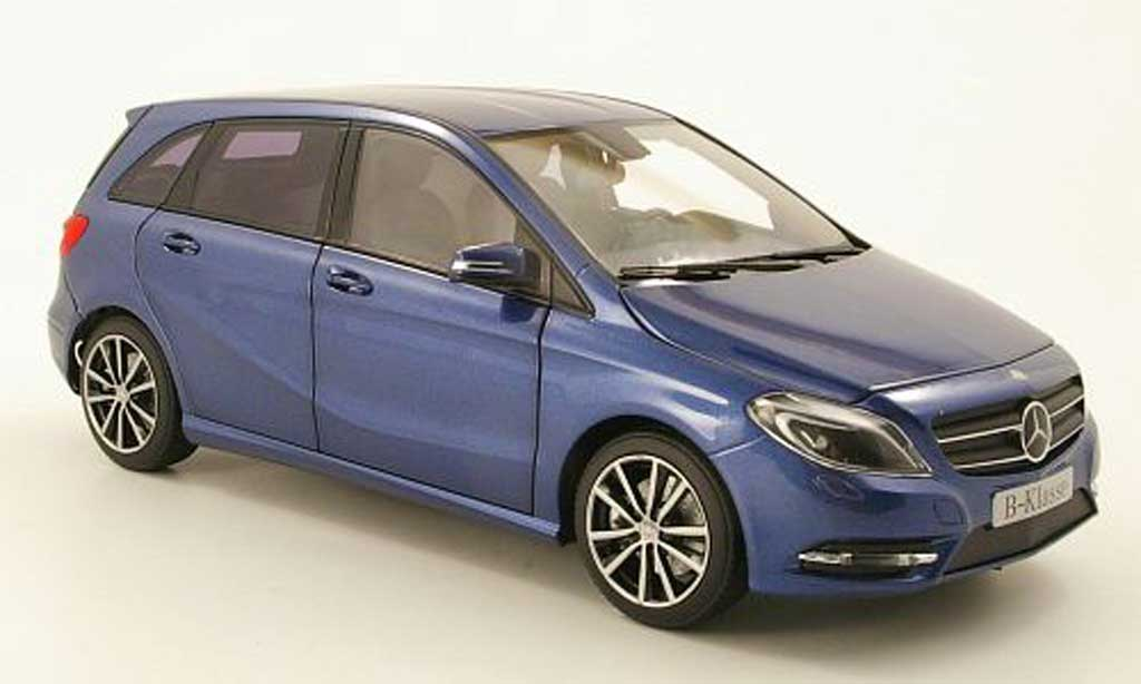 mercedes classe b miniature bleu 2011 norev 1 18 voiture. Black Bedroom Furniture Sets. Home Design Ideas