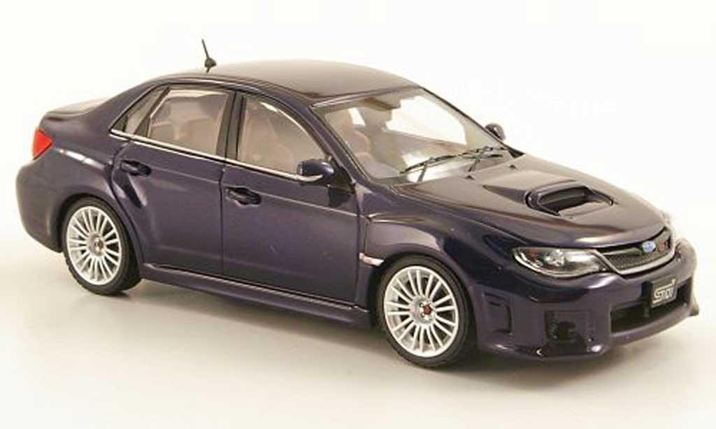 Subaru Impreza WRX 1/43 Ebbro STI A-Line bleu 2010 miniature