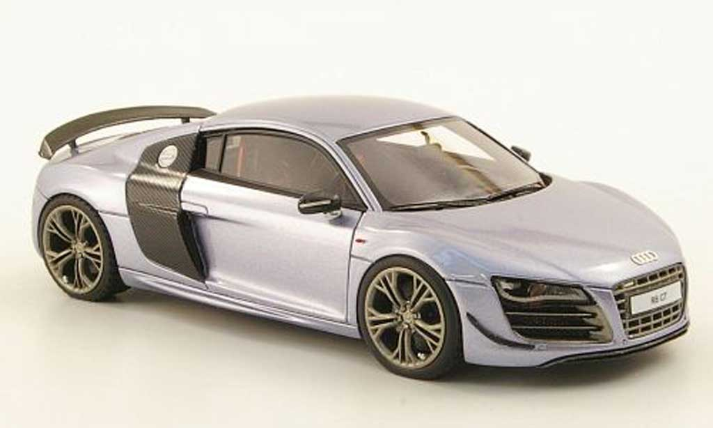audi r8 gt miniature grise bleu look smart 1 43 voiture. Black Bedroom Furniture Sets. Home Design Ideas