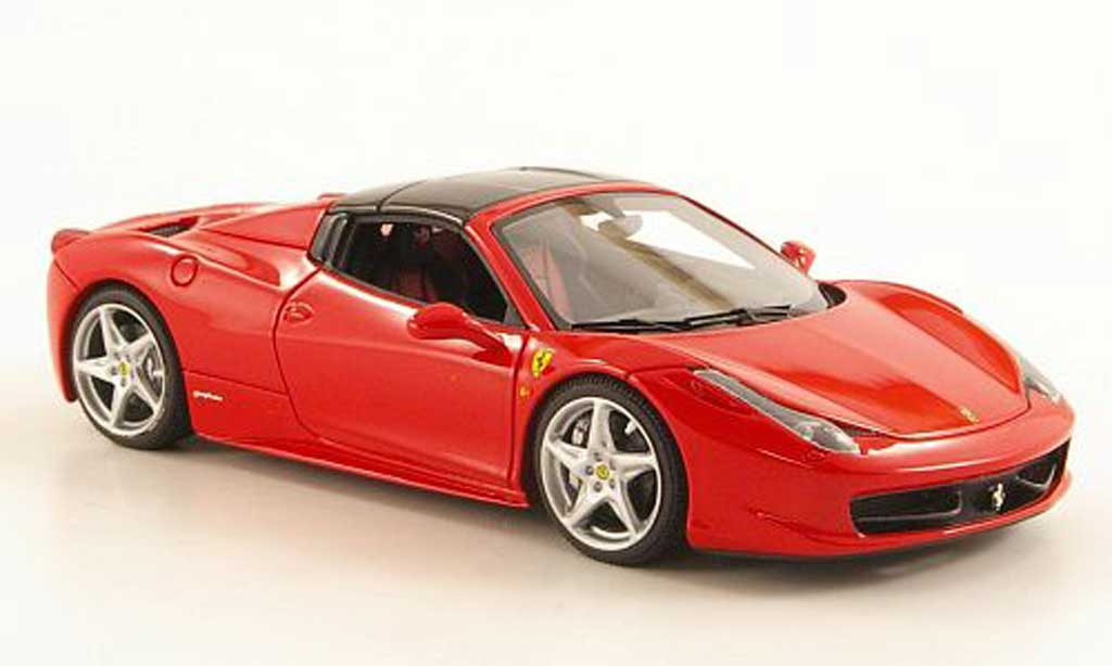 Ferrari 458 Italia Spider 1/43 Look Smart rouge/noire miniature