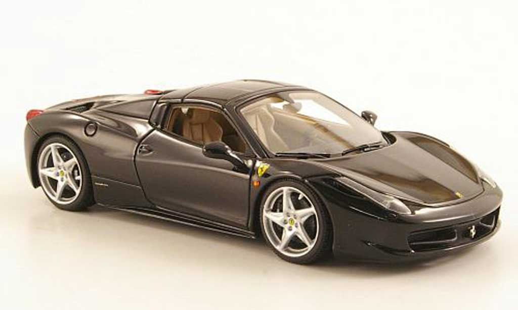 Ferrari 458 Italia Spider 1/43 Look Smart noire Hard Top miniature