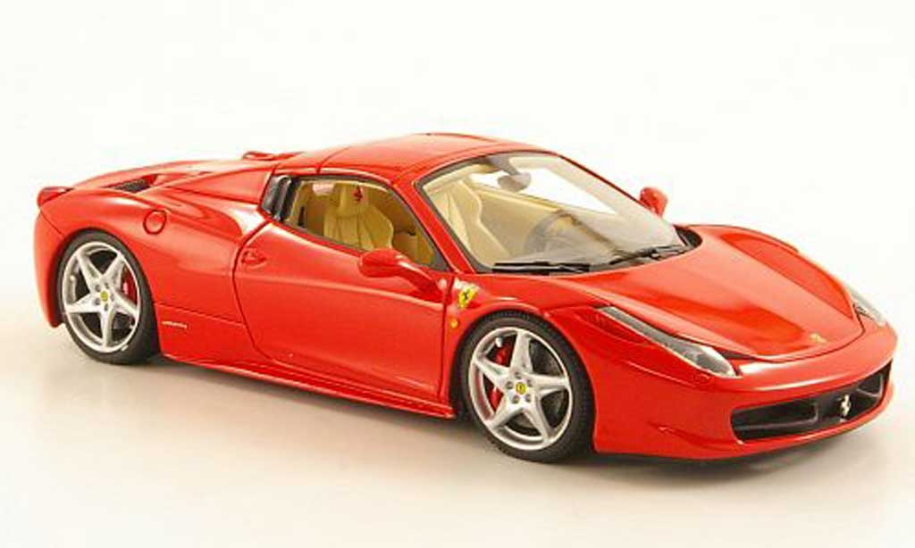 ferrari 458 italia spider rot look smart modellauto 1 43 kaufen verkauf modellauto online. Black Bedroom Furniture Sets. Home Design Ideas