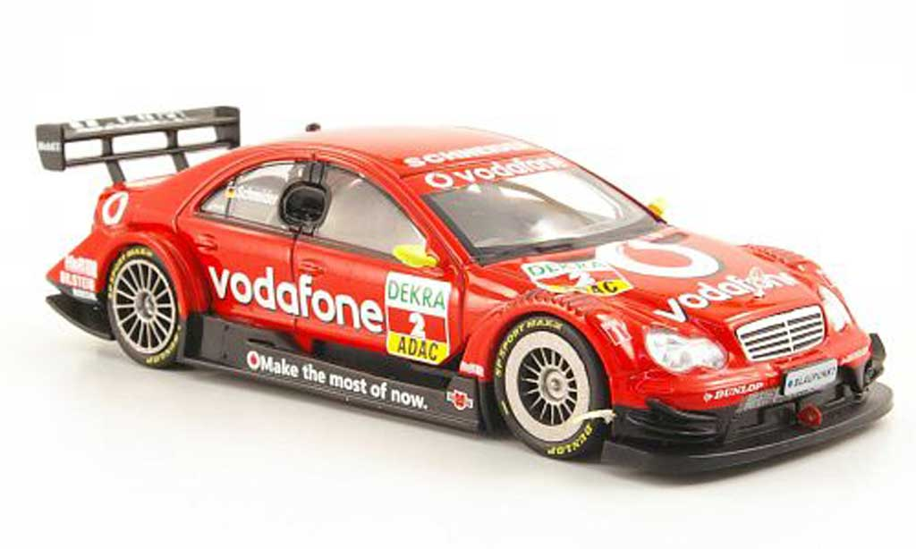 Mercedes Classe C DTM 1/43 Hachette No.2 Vodafone B.Schneider Saison 2006 modellino in miniatura