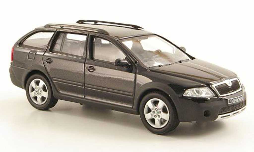 skoda octavia combi scout black abrex diecast model car 1. Black Bedroom Furniture Sets. Home Design Ideas