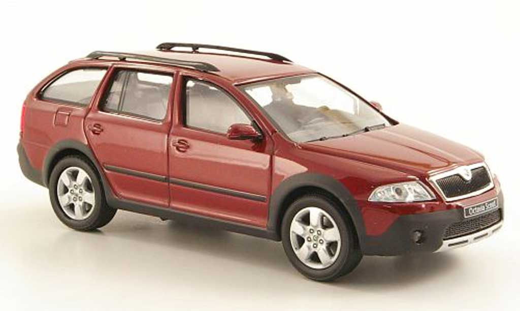 skoda octavia combi scout red abrex diecast model car 1 43. Black Bedroom Furniture Sets. Home Design Ideas