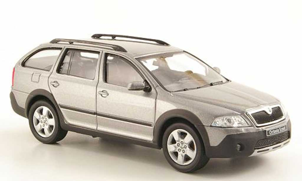 skoda octavia combi scout grau abrex modellauto 1 43. Black Bedroom Furniture Sets. Home Design Ideas