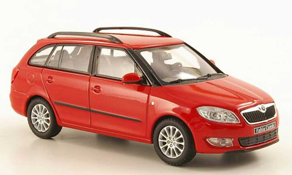 skoda fabia ii miniature rouge abrex 1 43 voiture. Black Bedroom Furniture Sets. Home Design Ideas
