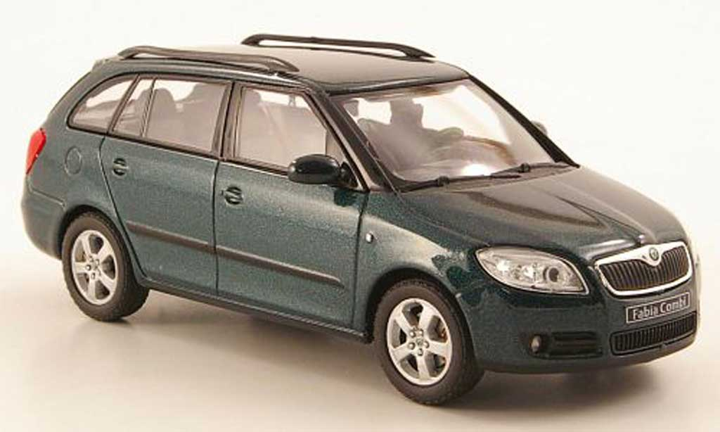 skoda fabia ii miniature verte abrex 1 43 voiture. Black Bedroom Furniture Sets. Home Design Ideas