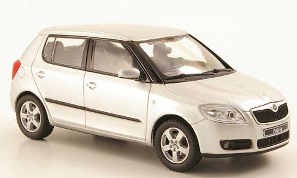 skoda fabia ii miniature grise 2006 abrex 1 43 voiture. Black Bedroom Furniture Sets. Home Design Ideas