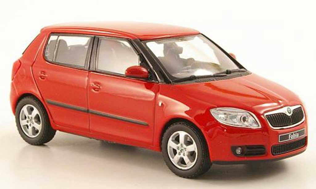 skoda fabia ii miniature rouge 2006 abrex 1 43 voiture. Black Bedroom Furniture Sets. Home Design Ideas
